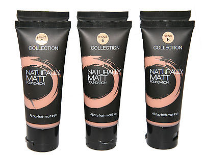 12 x Collection 2000 Naturally Matt Foundation  | Bronze | RRP £36 | Wholesale