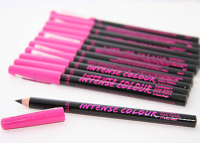 12 x Collection Intense Colour Supersoft Khol Eyeliner Pencils | Black Magic