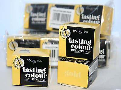 12 x Collection Lasting Colour gel Eyeliner  Liner | Gold | RRP £60 | Wholesale Lot