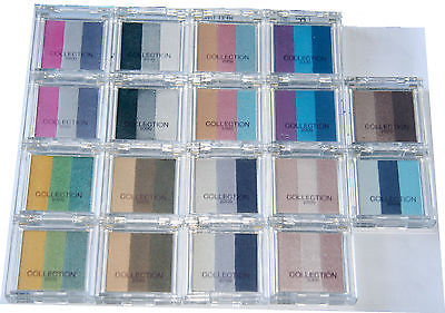 18 x Collection 2000 Colour Intense Trio Eyeshadow | 9 Shades | RRP £63