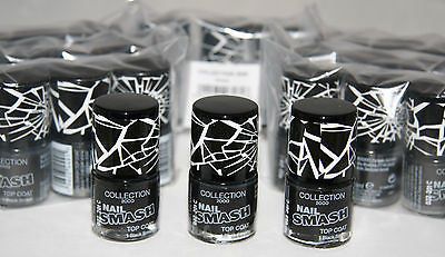 24 x Collection 2000 Nail Smash top Coat Polish| Black Smash | RRP £72