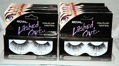 24 x Royal Lashed Out Couture False Eyelashes with Adhesive | Style 004