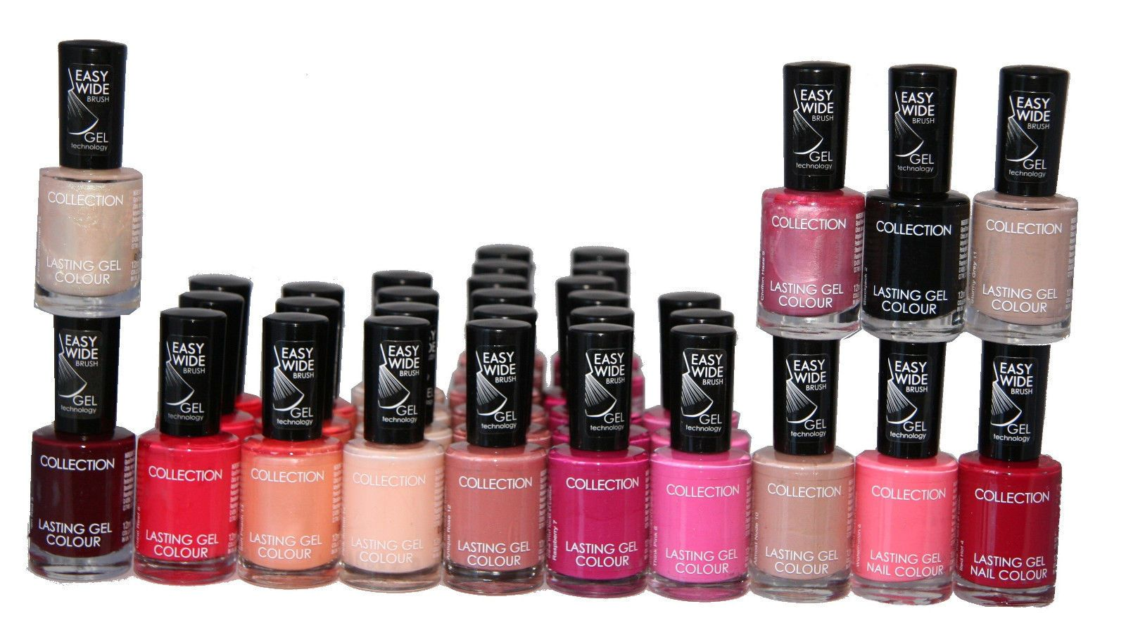 33 x Collection Lasting Gel Colour Nail Polish 12 shades RRP 83 Job ...